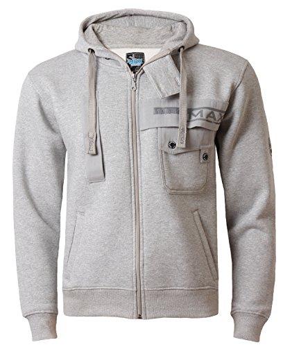 Preisvergleich Produktbild Max Edition Herren Sweatshirt (mit Kaputze) MSW 51 grau marl Gr. L