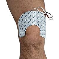 Knie-Elektroden für TENS-Behandlung bei Knie-Gelenk-Schmerzen. Für TENS EMS Geräte mit 2mm Anschluss. 2 Stück.