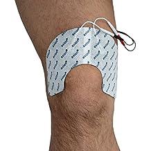 Elettrodi ginocchio, pacchetto di 2 - per dispositivi con attacco universale a spinotto da 2mm - Compatibili con Globus e Tesmed - qualità axion