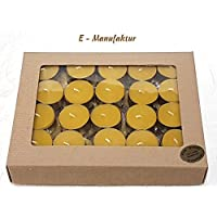 Bienenwachs Kerzen SET 40 Stück Teelichter aus Bienenwachs Weinachtchten 40 pcs Tealights beeswax Christmas