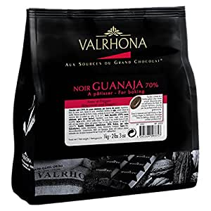 Valrhona Dark Baking Chocolate Chips 70% (Guanaja) 1 kg