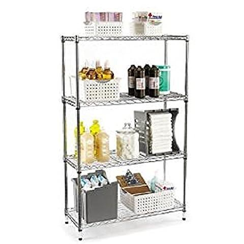 Placetech 91,4cm (91cm) à 4étages Free-standing Chrome étagère de cuisine Meuble Rangement ou de rangement de garage