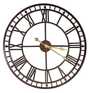 60 cm Large Metal Wall Clock Antique Vintage Retro Style Home Hotel Bar Office Decor Gift Idea Roman Numerals