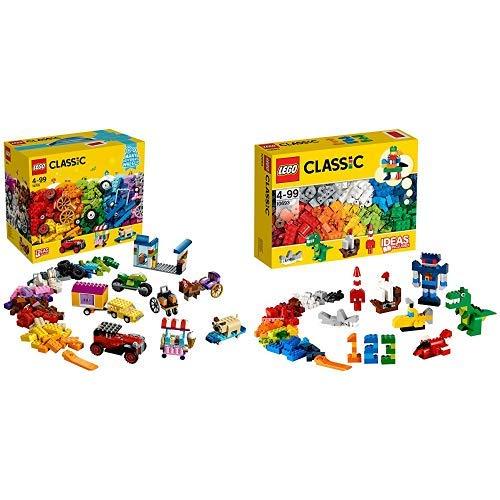 LEGO Classic 10715 - Kreativ-Bauset Fahrzeuge, Spielzeug &  Classic 10693 - Bausteine-Ergänzungsset, Lernspielzeug