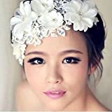 Losuya® Handmade Pearl Bridal Headdress Wedding Accessories Hairpin Hair Hoop Dance Accessories (001)
