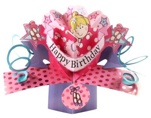 Second Nature - Biglietto d'auguri pop-up per compleanno di ragazza, motivo: ballerina [lingua inglese]