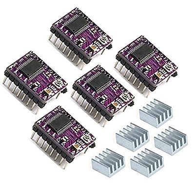 Anycubic 5PCS Stepstick 4-Schicht DRV8825 Schrittmotortreiber Module mit Kühlkörper für 3D-Drucker Printer Reprap RP A4988