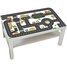 Möbelaufkleber Straßen - passend für IKEA LACK Couchtisch - klein - Kinderzimmer Spieltisch - Möbel nicht inklusive