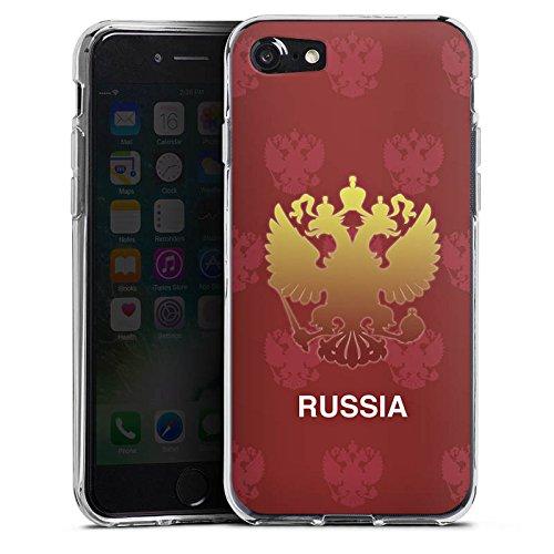 Apple iPhone X Silikon Hülle Case Schutzhülle Russland EM Trikot Fußball Europameisterschaft Silikon Case transparent
