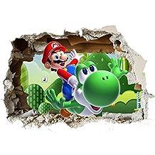 Super Mario Wand Zertrümmern Kinder Wandaufkleber Wandüber Wall Art Wand  Tattoo Customise4U™ (mario