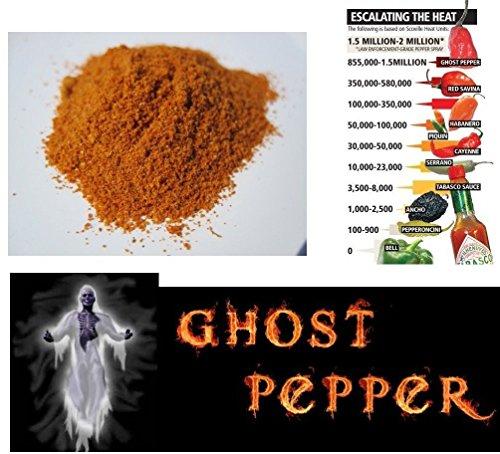 10g piment bhut jolokia ghost pepper en poudre le plus fort du monde