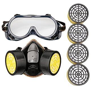 A-szcxtop wiederverwendbar Atemschutzmaske Farben ein,, Antigas chemischen Anti Staub Maske Atemschutzmaske, mit 4extra Filter