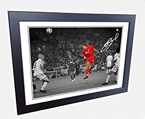 12x8 Signed Istanbul Steven Gerrard Liverpool Autograph Photo Photograph Picture frame by kicks
