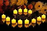 JZK® 12 x Lumini candela LED tremolante con batteria, per matrimonio compleanno battesimo comunione festa o occasioni varie, ambra - Dopo una splendida cena a lume di candela con la tua famiglia, esci di casa per farti una passeggiata.  Ti re...