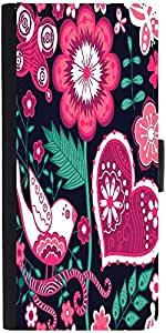 Snoogg Seamless Texture With Flowers Designer Protective Phone Flip Case Cover For Huawei Honor 5X