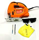 #9: TOOLS CENTRE'S 5 IN 1 POWERFUL 610W JIGSAW MACHINE(70MM) WITH 1PC JIGSAW BLADE FOR METAL /ALUMINIUM CUTTING + 1PC JIGSAW BLADE FOR WOOD CUTTING + 1PC SAFETY GOGGLE + 1PC SAFETY MASK WITH VARIABLE SPEED TRIGGER.