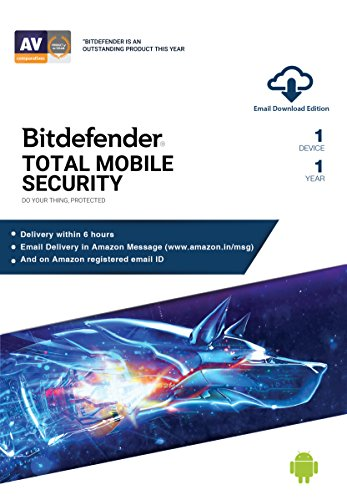 BitDefender Total Security for Mobile Latest Version (Android) – 1 Device, 1 Year (Email Delivery in 2 hours – No CD)