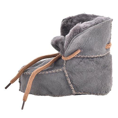 Lambland , Chaussures souple pour bébé (garçon) XS Gris