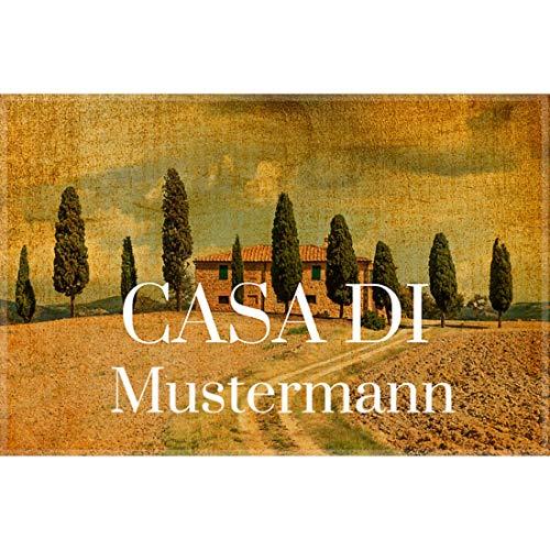 Manutextur Fußmatte mit Namen - Motiv Casa - viele Motive - Schmutzfangmatte personalisiert - Größe 50x80 cm - persönliches & individuelles Geschenk