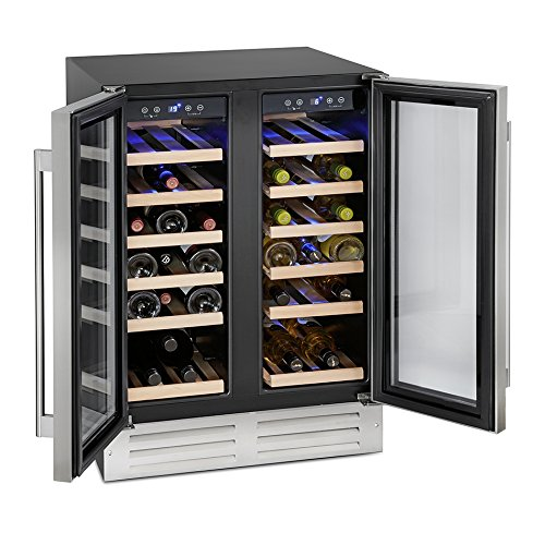 51vO04uM70L. SS500  - Montpellier WS38SDDX Dual Zone 38 bottle Wine Cooler in Stainless Steel