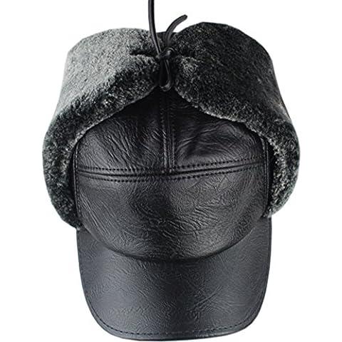 Ancianos con sombreros de invierno/los hombres cuero oído viejo sombrero/Invierno Lei Feng Cap