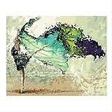 NEWSTARTS Rahmen DIY Malen Nach Zahlen 40x50 Tänzerin Figur Malerei Acryl Handbemalt Für Wohnkultur Abstrakte Wandkunst Bild Kreative DIY Kunst