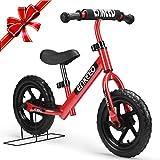 Enkeeo - 12' Bicicleta sin Pedales, Bicicleta Infantil de Equilibrio...