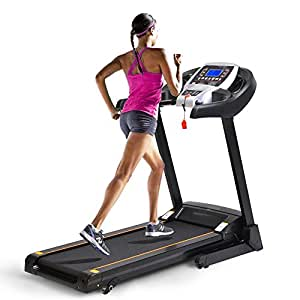 Energie Fitness Home Use EHT-110 Foldable Treadmill 1.75 HP (3.5 HP Peak) Motor With Double Layer Running Board, MP3 And Speakers