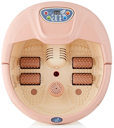 ArtNaturals Foot Spa Massager with Heat – Lights and Bubbles - Soothe and Relax Tired Feet with All In One Therapeutic Home Salon and Massager Tub - Temperature Control - for Athletes Foot