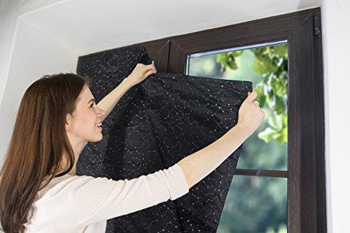 Kenley Tragbares Verdunklungsrollo – Vorhang für zu Hause und Unterwegs mit Versilberter Außenbeschichtung – Sonnenstrahlenreflektor – hält Ihr Schlafzimmer dunkel und kühl