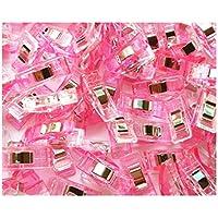 DOOUYTERT doou ytert de plástico Clips Sewing Craft Quilt Fijaciones Abrazaderas Pack (White Pink)