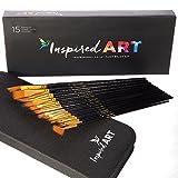 Pennello-Set di 15pennelli per pittura acrilica Olio, acquerelli - Best Reviews Guide