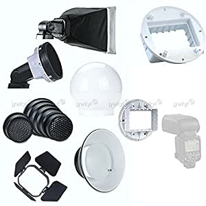 7 en 1 Flash Diffuseur Kit pour Flash Cobra Griffe Nikon SB900 Pentax Sigma Nissin / cubebox1shop (Hong Kong)