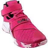 Nike Lebron Soldier IX, Herren Basketball Schuhe, Vivid Pink/White/Pink Pow/Metallic Silver - Größe: 44 EU