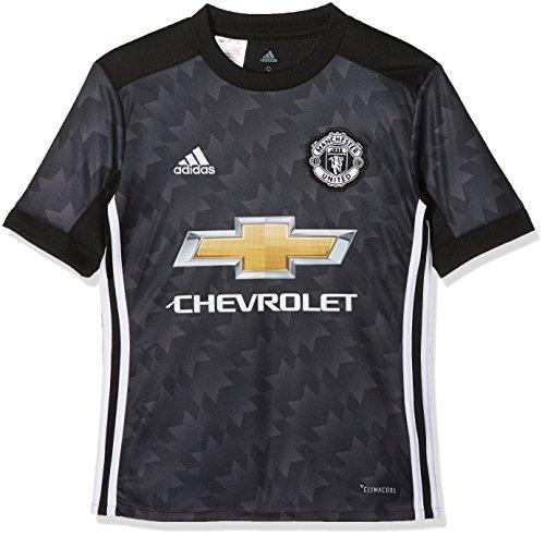 Adidas MUFC A JSY Y Camiseta 2ª Equipación Manchester United FC, Niños, (Negro/Blanco / Granit), 128 (7/8 años)