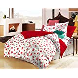 "AVI Floral Print Single Size Comforter/ Duvet - 60""x90""- Red"