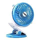 Die besten Fans Batteriebetriebene - Batterie Ventilator Clip Fan 360 Grad-Umdrehung 18650 Batteriebetriebene Bewertungen