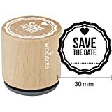 Woodies 350209montiert Gummi Stempel 1.35-inch Save the Date, Acryl, mehrfarbig, 3-teilig