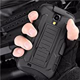 Nutbro S4 Case, Galaxy S4 I9500 Case, Armor Case for Samsung Galaxy S4 I9500 Shockproof Heavy Duty Protection Case for Samsung Galaxy S4 I9500 Case Rubber Triple Layer Holster Cover