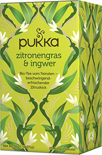 Pukka Bio-Tee Zitronengras & Ingwer, 80 Teebeutel, 4er Pack (4 x 20 Stück) -