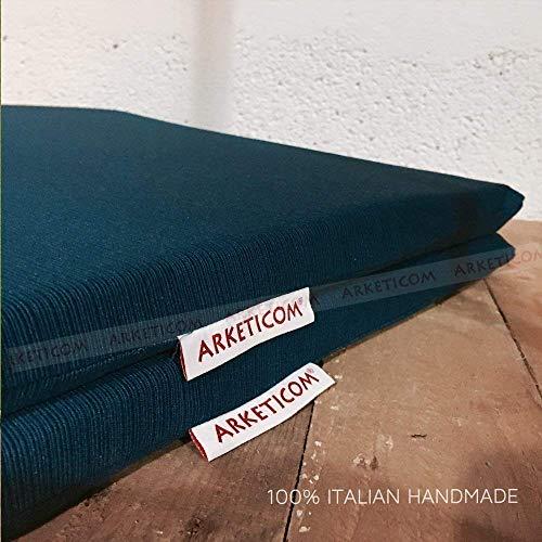 MY KISSEN, Cuscino sedie cucina in stoffa e gomma piuma. Cuscini per sedie da giardino Cucine moderne, arredamento, sedie esterno. Cuscino di seduta coprisedia arredamento camera da letto. QUADRATO