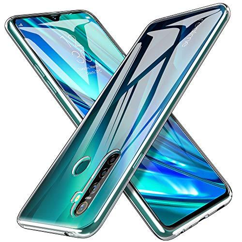iBetter Coque pour Realme 5 Pro, [Anti-Jaune][Anti-Slip][Résistant aux Rayures] Housse Etui, Soft Premium TPU Coque, pour Realme 5 Pro Smartphone.Transparent