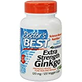 Doctor's Best, Extra Strength Ginkgo, 120 mg, 120 Capsules Végétales