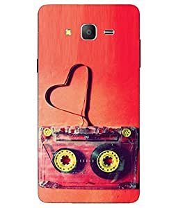 Case Cover Cassette Printed Red Soft Back Cover For Samsung Galaxy On7