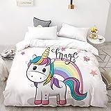 BEDSETAAA 3D Hd Printing Bettbezug, Kinder Kind Baby Quilt/Decke Fall, Königin Cartoon Bettwäsche, Bettwäsche Cute Stars 155x215cm