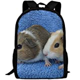 best& Vintage Mixed Coloured Baby Guinea Pigs College Laptop Backpack Student School Bookbag Rucksack Travel Daypack