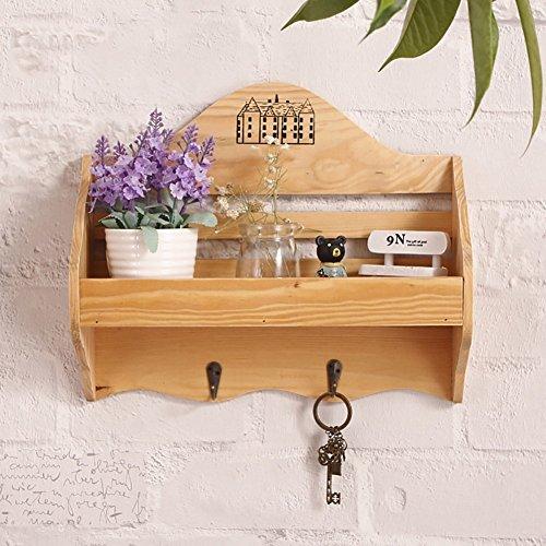 Décoration de mur de support en bois solide Décoration murale pratique d'accessoires de maison (Color : Beige)