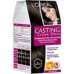 L'Oreal Paris Casting Creme Gloss, Dark Brown 400, 87.5g+72ml