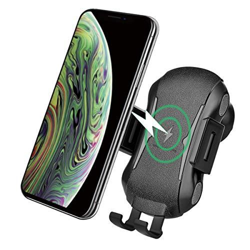 XLTOK Cargador Inalámbrico Coche, 10W Qi Cargador Wireless, Carga Rá