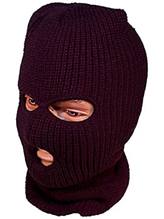 Mens/Gentlemens Knitted SAS Style Balaclava With Eye & Mouth Holes, One Size, Black
